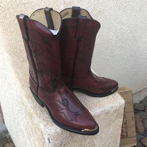 NWT Durango black cherry men's boots size 9